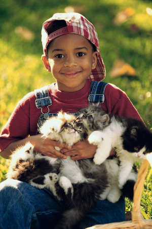 Young Boy With New Pet