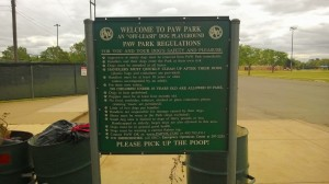 Oklahoma City Paw Park rules