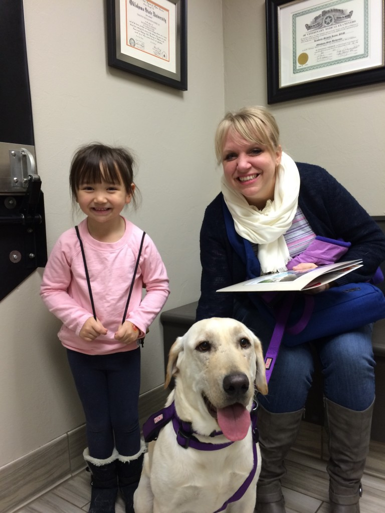 Annie and her new lab Violet