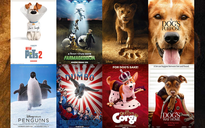 2018 Pet and Animal Movies Banner